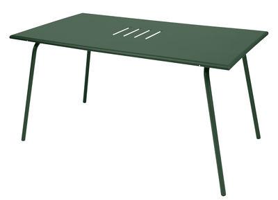 Table Monceau / 146 x 80 cm - 6 personnes - Fermob cèdre en métal