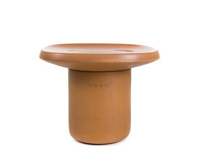 Arredamento - Tavolini  - Tavolino Obon - / Terracotta - 47 x 47 x H 37 cm di Moooi - Terracotta - Terracotta modellata