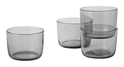 Verre Corky / H 6 cm - Lot de 4 - Muuto gris fumé en verre
