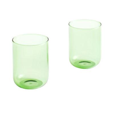 Arts de la table - Verres  - Verre Tint Large / Set de 2 - H 9 cm / 300 ml - Hay - Vert - Verre borosilicaté