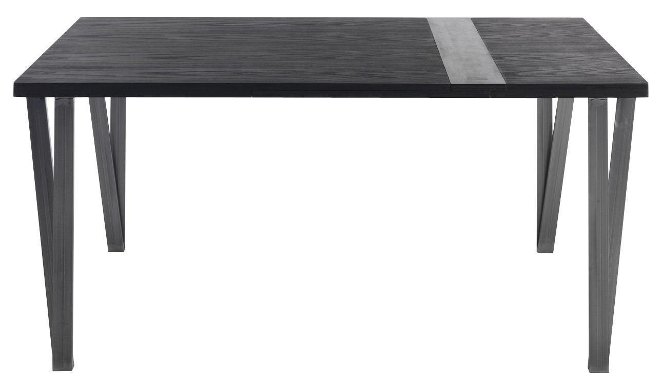 Möbel - Tische - Ma.re Ausziehtisch / L 150 bis 196 cm - Holz & Keramik - Horm - Esche, mokkafarben & Keramik, grau - getönte Esche, Keramik, Metall