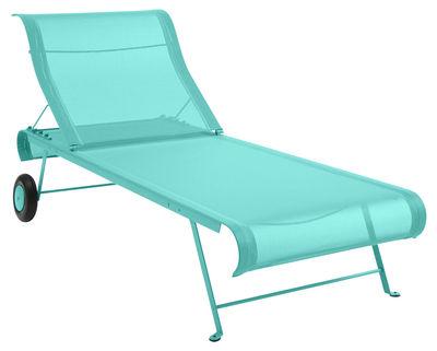 Bain de soleil Dune - Fermob bleu lagune en tissu
