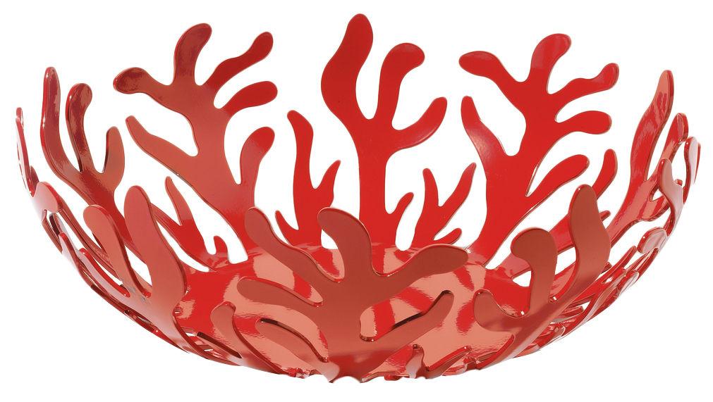 Tableware - Fruit Bowls & Centrepieces - Mediterraneo Basket by Alessi - Ø 29 - Red - Steel
