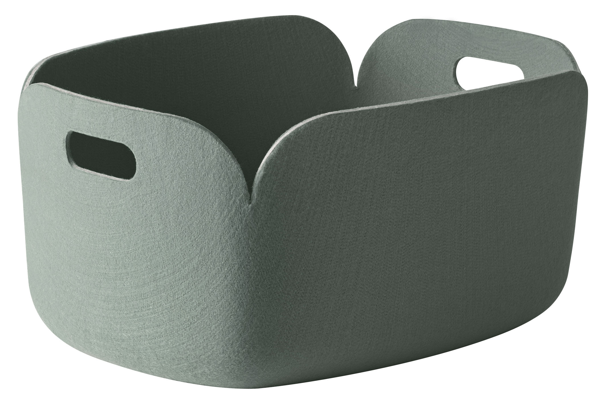 Decoration - Boxes & Baskets - Restore Basket - 100% recycled by Muuto - Dusty green - Recycled felt