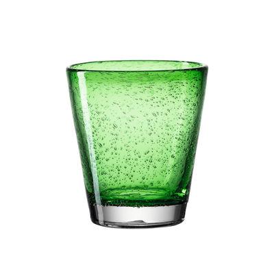Tavola - Bicchieri  - Bicchiere Burano - / con Bolle - 330 ml di Leonardo - verde - Vetro a bolla soffiato in bocca