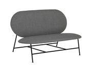 Canapé droit Oblong L 120 cm Northern gris,noir en tissu