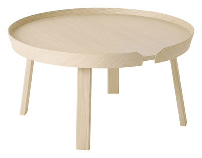 Furniture - Coffee Tables - Around Coffee table - Around - Table basse - Large Ø 72 x H 37,5 cm by Muuto - Natural ash wood - Ashwood