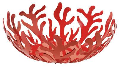 Corbeille Mediterraneo / Ø 29 cm - Alessi rouge en métal