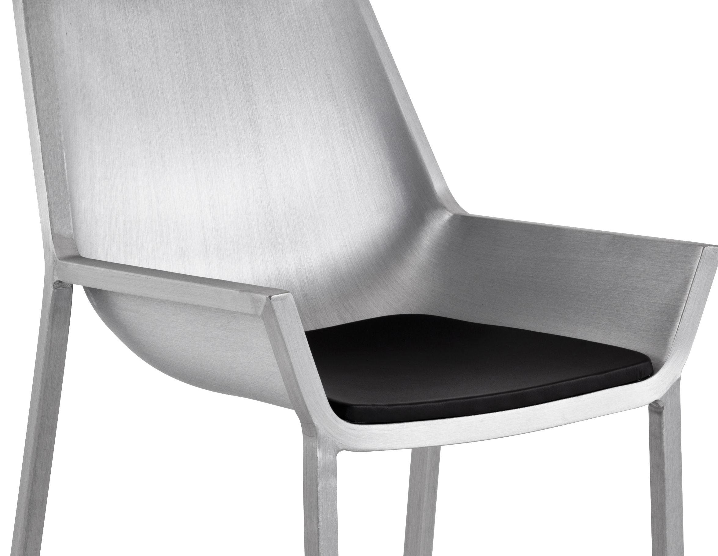 Outdoor - Poufs, coussins & tapis d'extérieur - Coussin d'assise / Pour collection Sezz - Emeco - Noir - Coussin assise - Vinyle