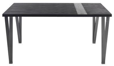 Furniture - Dining Tables - Ma.re Extending table - L 150 à 196 cm by Horm - Mokka ask & grey ceramic - Ceramic, Metal, Tinted ashwood