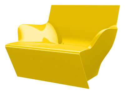 Chaise Kami San version laquée - Slide laqué jaune en matière plastique
