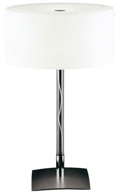 Illuminazione - Lampade da tavolo - Lampada da tavolo Drum di Fontana Arte - H 37 cm - Acciaio lucidato, Vetro