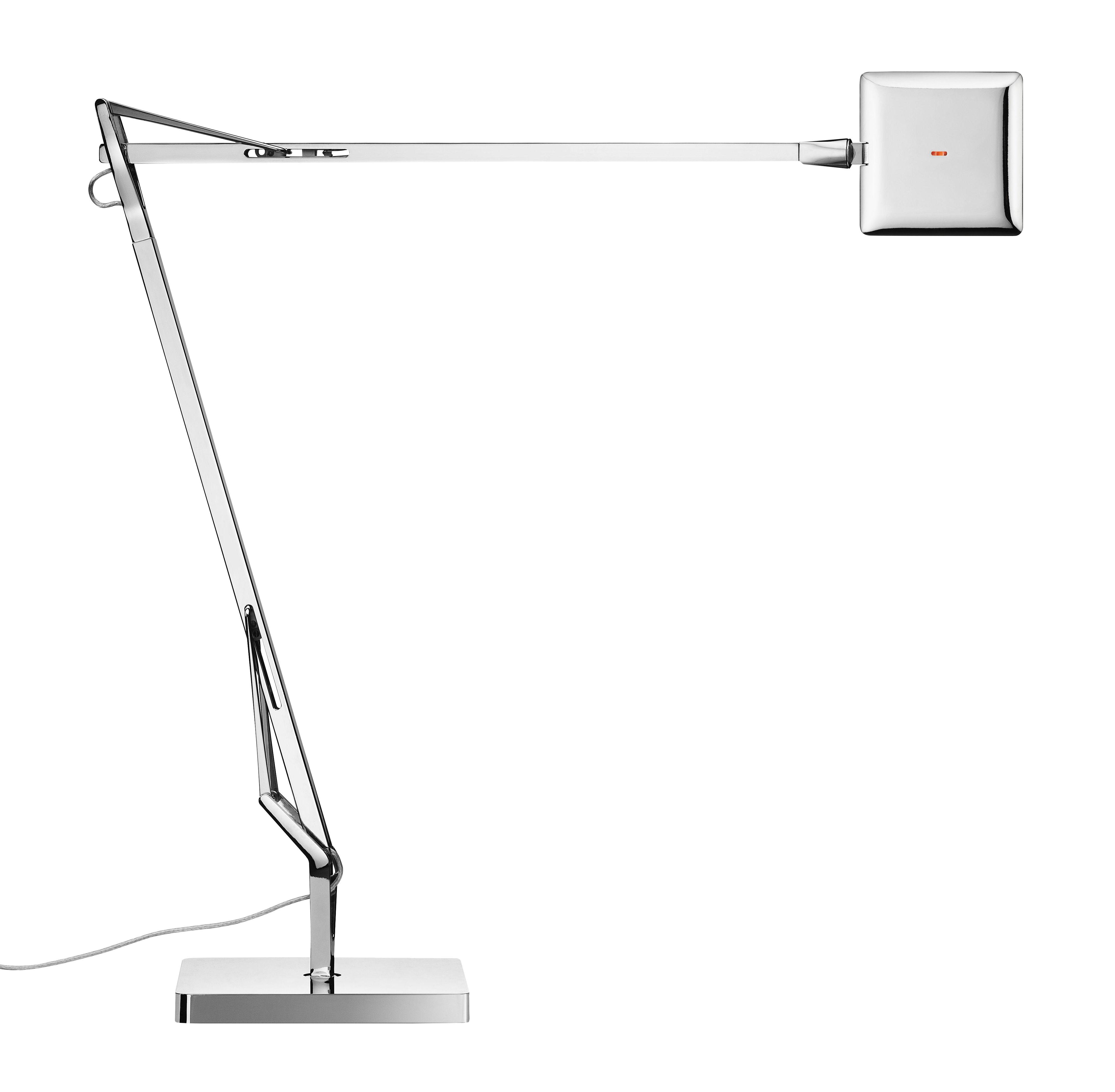 Luminaire - Lampes de table - Lampe de table Kelvin Edge / LED - Flos - Chromé - Aluminium