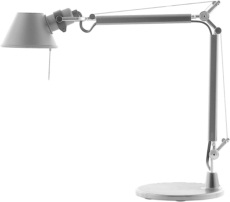 Luminaire - Lampes de table - Lampe de table Tolomeo Micro LED - Artemide - Aluminium - Aluminium