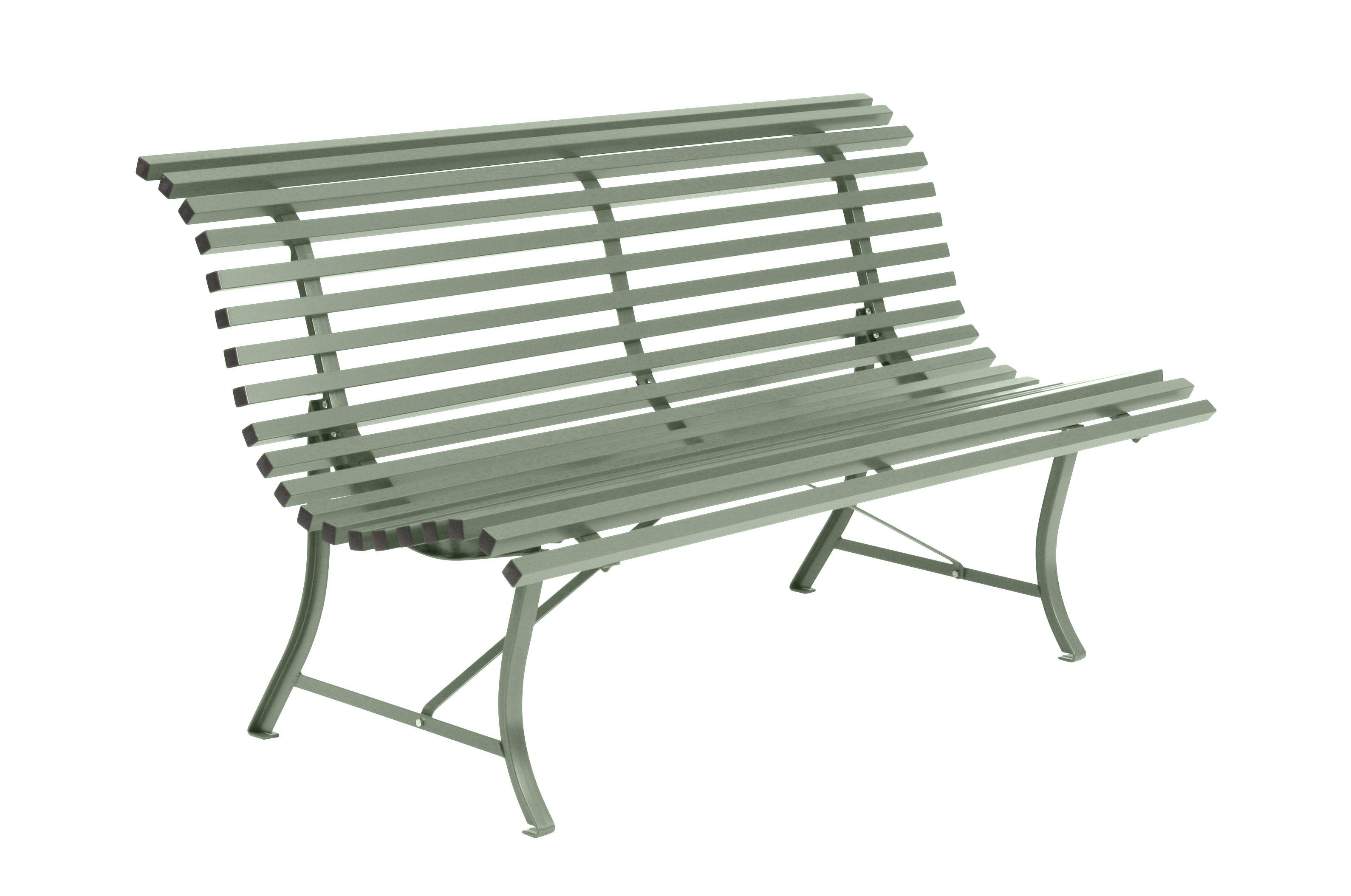 Outdoor - Panchine - Panca con schienale Louisiane - / L 150 cm - Metallo di Fermob - Cactus - Acier électrozingué