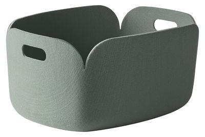 Déco - Paniers et petits rangements - Panier Restore / Feutre - 35 x 48 cm - Muuto - Vert cendre - Feutre recyclé