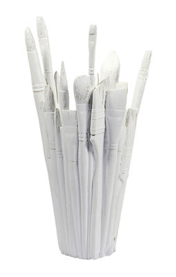 Decoration - Vases - Brush Pencil holder - Vase by Pop Corn - White - Marble, Resin