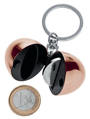 Porte-clés Bon Bon avec porte-jeton - Alessi rose doré en métal