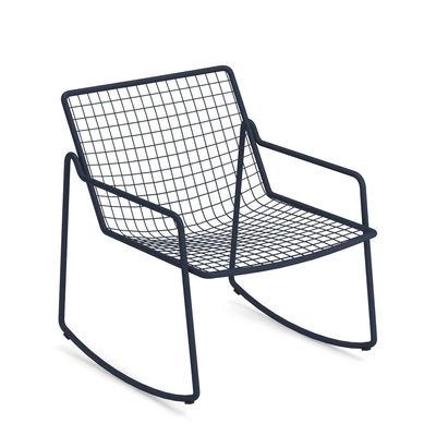Mobilier - Fauteuils - Rocking chair Rio R50 / Métal - Emu - Bleu foncé - Acier
