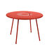 Lorette Round table - / Ø 110 cm - Perforated metal by Fermob