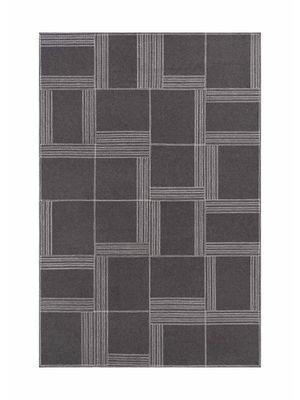 Decoration - Rugs - Oryza Rug - / Felt - 160 x 240 cm by Gan - Grey & white - Felt, Viscose