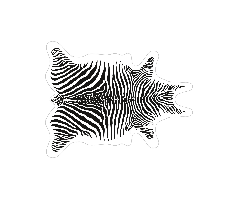Arts de la table - Nappes, serviettes et sets - Set de table Zèbre / 38 x 48 cm - Vinyle - PÔDEVACHE - Blanc / Rayures noires - Vinyle