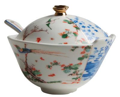 Cuisine - Sucriers, crémiers - Sucrier Hybrid Maurilia / Avec cuillère - Seletti - Multicolore - Porcelaine Bone China