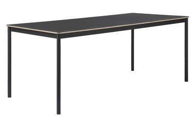 Table Base /Plateau bois - 190 x 85 cm - Muuto noir en bois