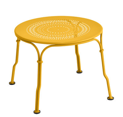 Table basse 1900 / Ø 45 cm - Fermob miel en métal