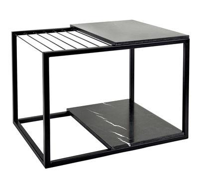 Table d'appoint Hang It Large / Porte-magazines - Marbre / 60 x 47 cm - Serax noir en métal