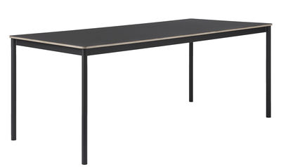 Table rectangulaire Base /Plateau bois - 190 x 85 cm - Muuto noir en bois