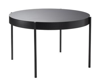 Table Series 430 / Ø 120 cm - Linoleum - Verpan noir en matière plastique