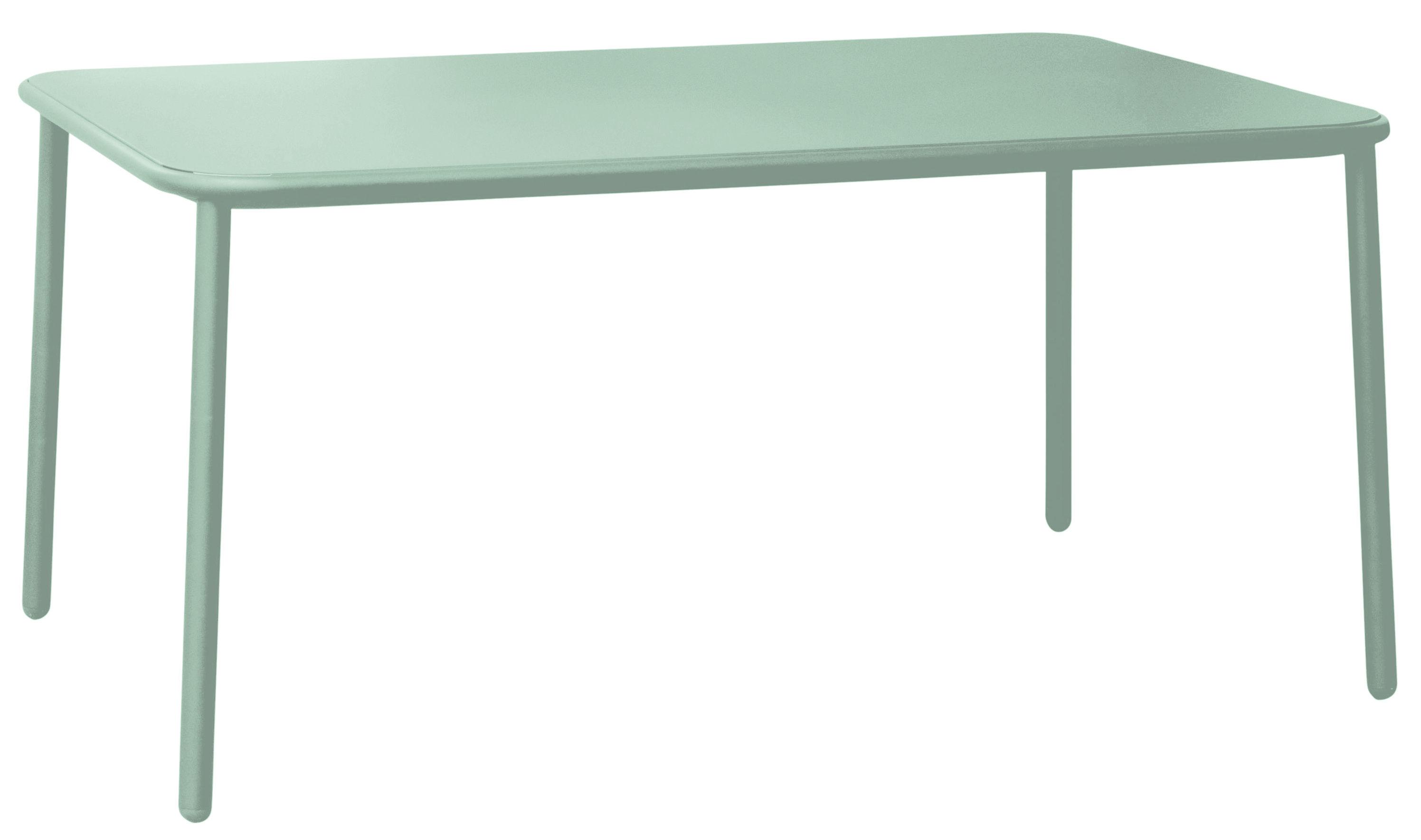 Jardin - Tables de jardin - Table Yard / Aluminium - 160 x 97 cm - Emu - Vert menthe - Aluminium verni
