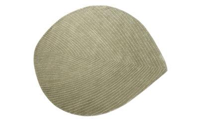Interni - Tappeti - Tappeto Quill Medium / 124 x 142 cm - Nanimarquina - Verde pietra - Lana vergine