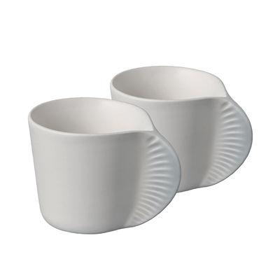 Tasse à café Morphose Set de 2 Ibride gris perle en céramique
