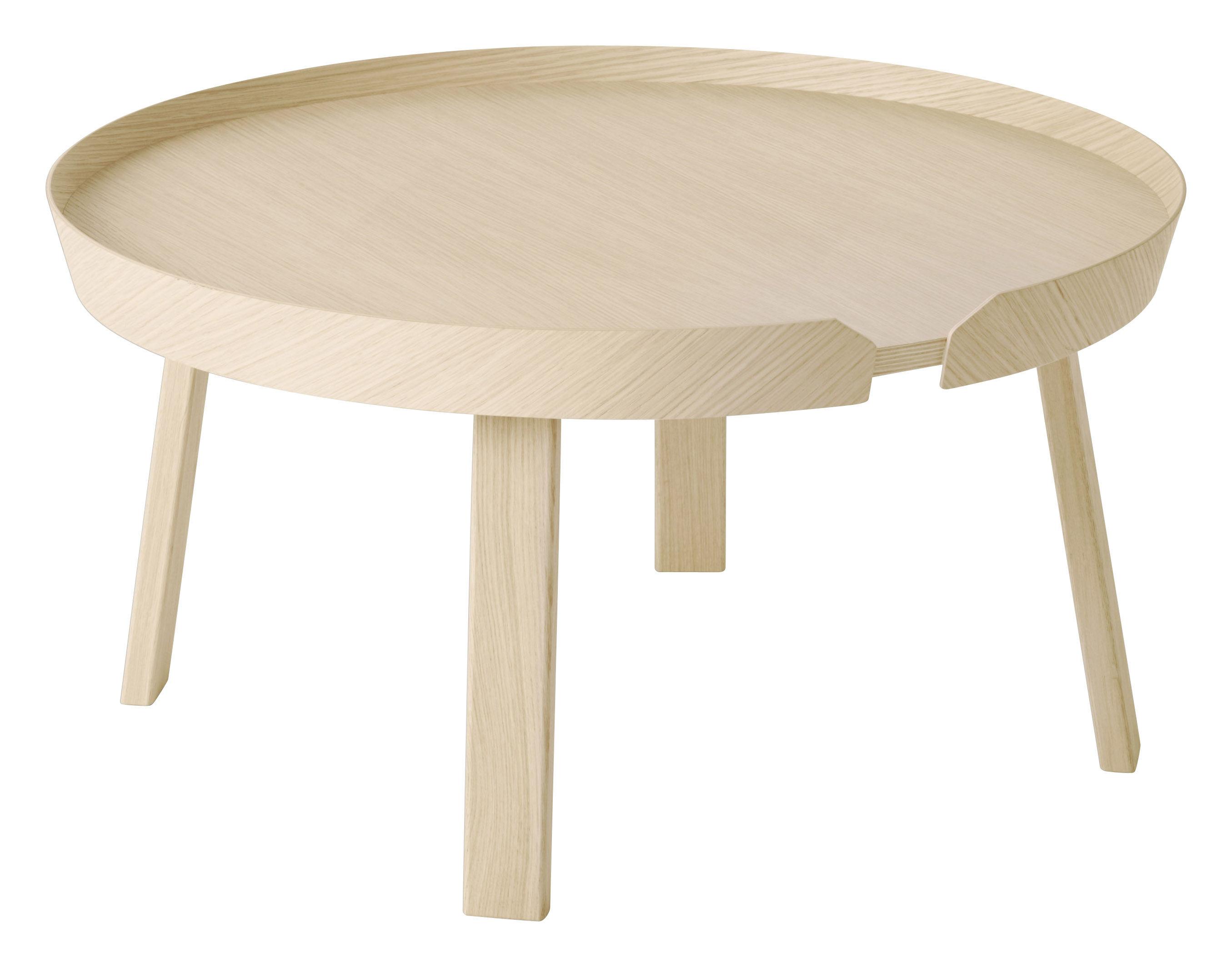 Arredamento - Tavolini  - Tavolino Around - Large Ø 72 x A 37,5 cm di Muuto - Frassino naturale - Frassino