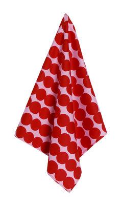 Torchon Räsymatto - Marimekko rose,rouge en tissu