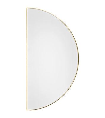 Decoration - Mirrors - Unity Wall mirror - / Semi-circle - L 50 cm by AYTM - L 50 cm / Gold - Glass, Steel