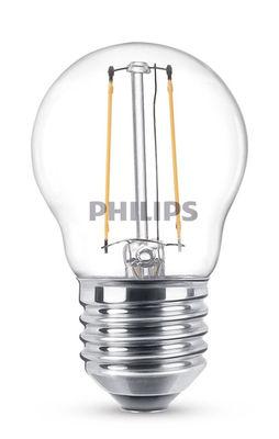Luminaire - Ampoules et accessoires - Ampoule LED E27 Sphérique filament / 2W (25W) - 250 lumen - Philips - 2W (25W) - Métal, Verre transparent