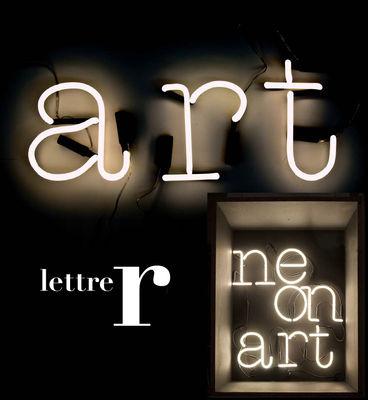 Applique con presa Neon Art - Lettera R di Seletti - Bianco - Vetro