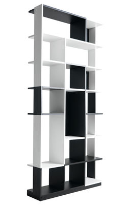 Furniture - Bookcases & Bookshelves - Sudoku Bookcase - Bookcase / Shelf by Horm - White & black - Lacquered plywood