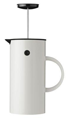 Cuisine - Cafetières - Cafetière à piston Classic / 8 tasses - Stelton - Blanc - ABS, Acier inoxydable, Polypropylène
