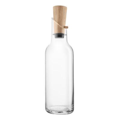 Carafe / Bouchon chêne - 1 L - Eva Solo transparent,chêne en verre