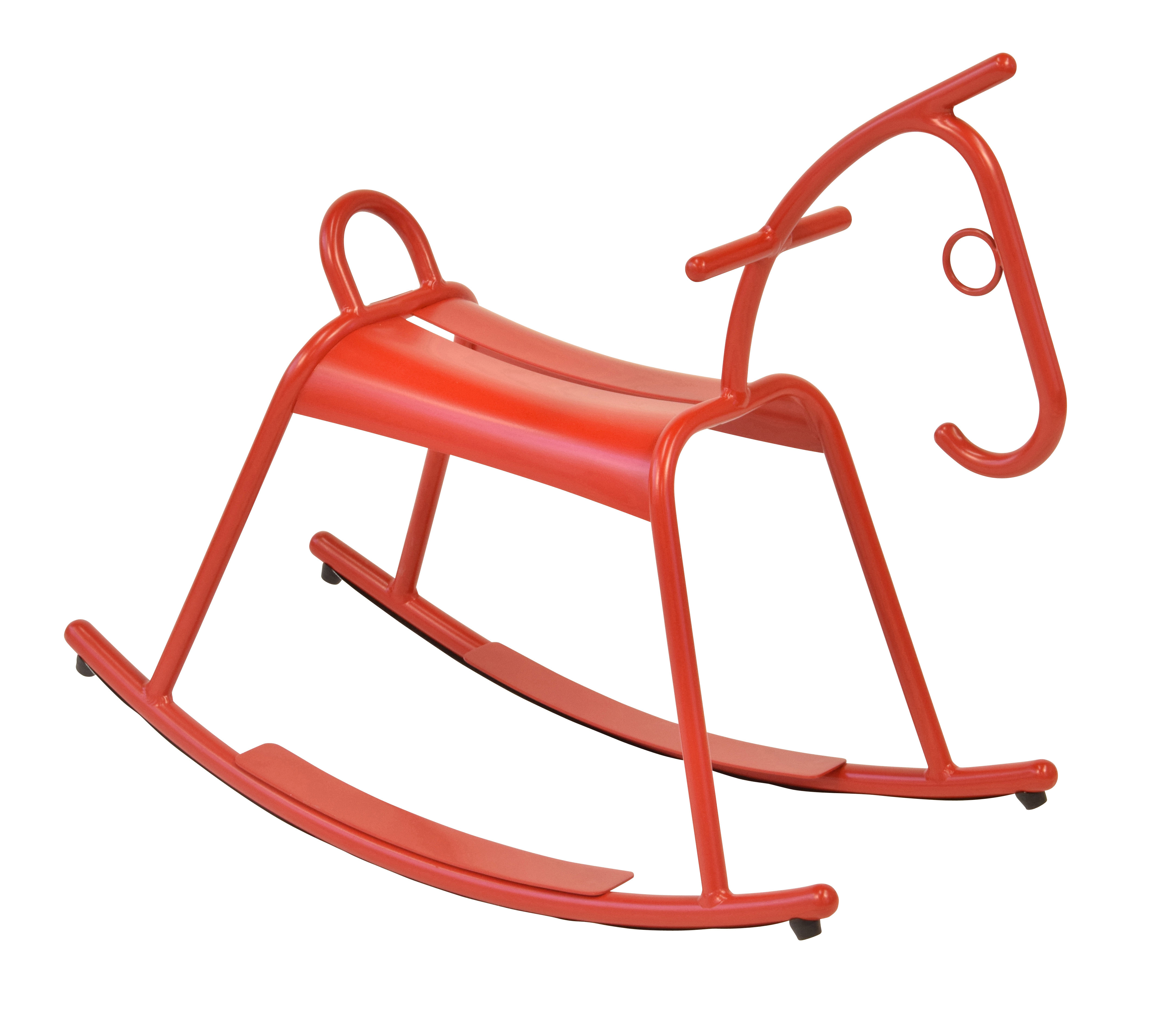 Arredamento - Mobili per bambini - Cavallino a dondolo Adada / Interno-esterno - Fermob - Papavero - Alluminio