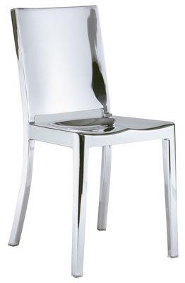 Furniture - Chairs - Hudson Indoor Chair - Aluminium by Emeco - Polished aluminium - Recycled polished aluminium