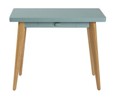 Console 55 / Avec tiroir - Métal & pieds bois - Tolix bois naturel,vert lichen en métal