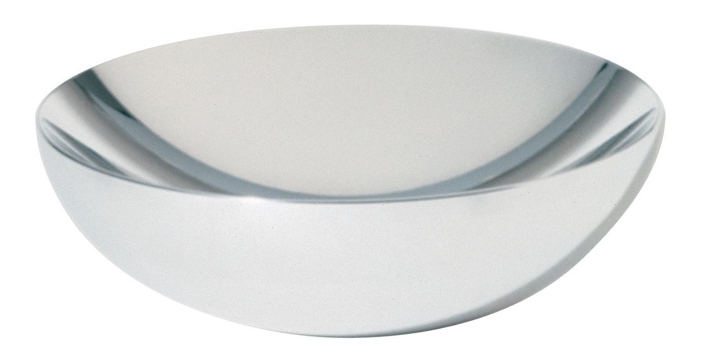 Tavola - Cesti, Fruttiere e Centrotavola - Coppa Double di Alessi - Diametro 32 cm - Acciaio lucidato