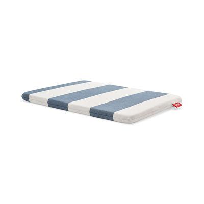 Déco - Coussins - Coussin d'extérieur / Pour tabouret Concrete Seat - Tissu Olefin - Fatboy - Rayé bleu Océan - Mousse polyester, Tissu Olefin