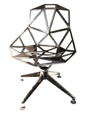 Chair One 4Star Drehsessel Variante poliertes Aluminium - Magis - Aluminium poliert