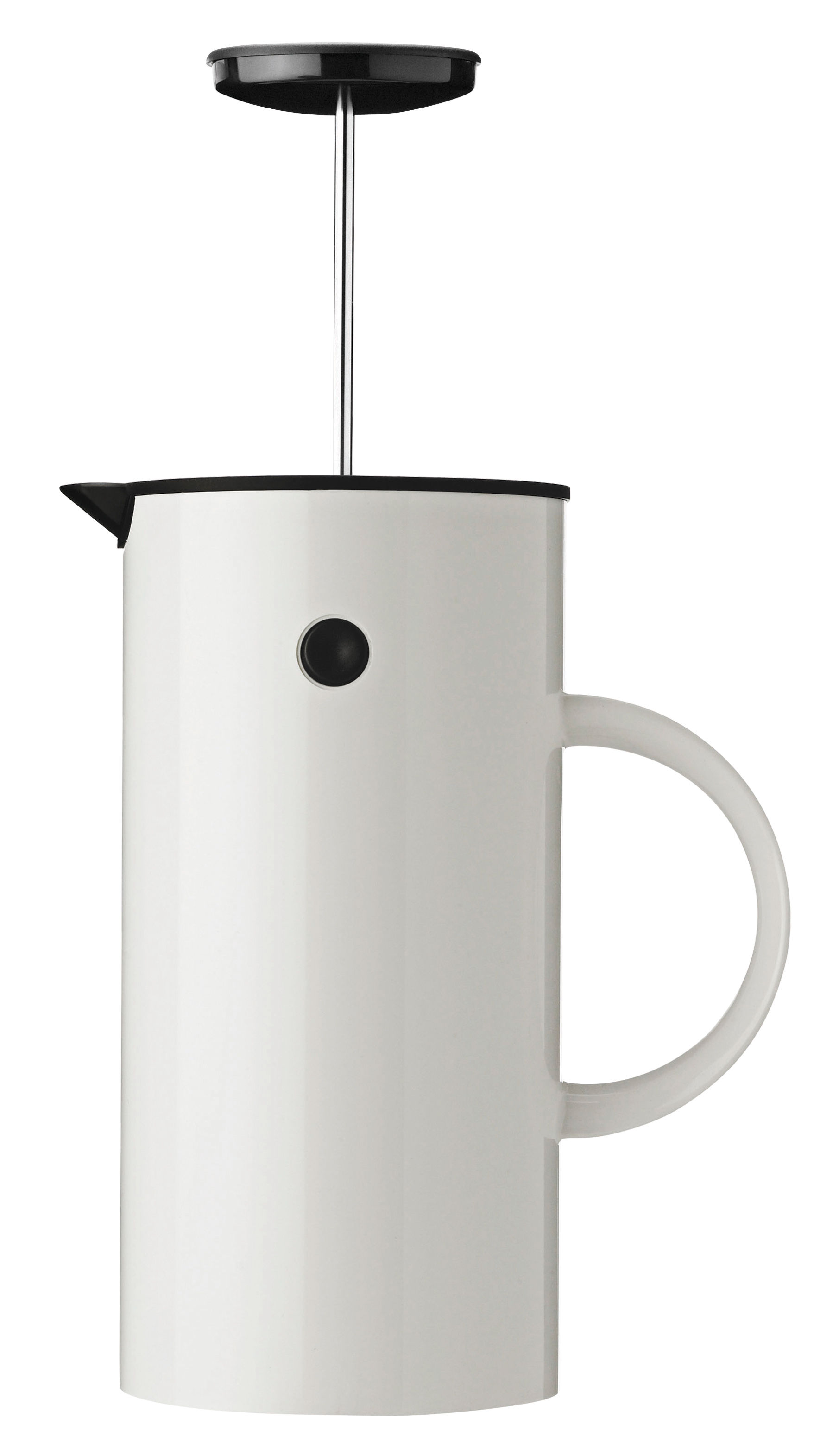 Küche - Kaffekannen - Classic Druckkolben-Kaffeemaschine / fasst 8 Tassen - Stelton - Weiß - ABS, Polypropylen, rostfreier Stahl